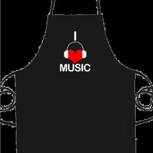 I love music – Basic kötény