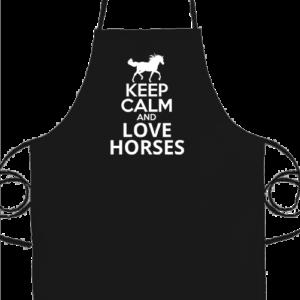 Keep calm and love horse – Prémium kötény
