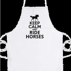 Keep calm and ride horse – Prémium kötény