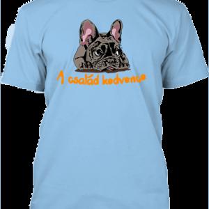 A család kedvence, francia bulldog – Férfi póló