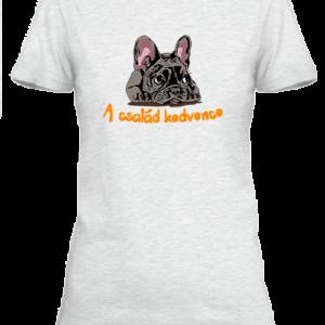 A család kedvence, francia bulldog – Női póló