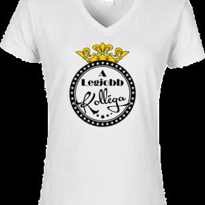 A legjobb kolléga – Női V nyakú póló