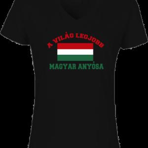 A világ legjobb magyar anyósa – Női V nyakú póló