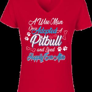 Adopted pitbull- Női V nyakú póló