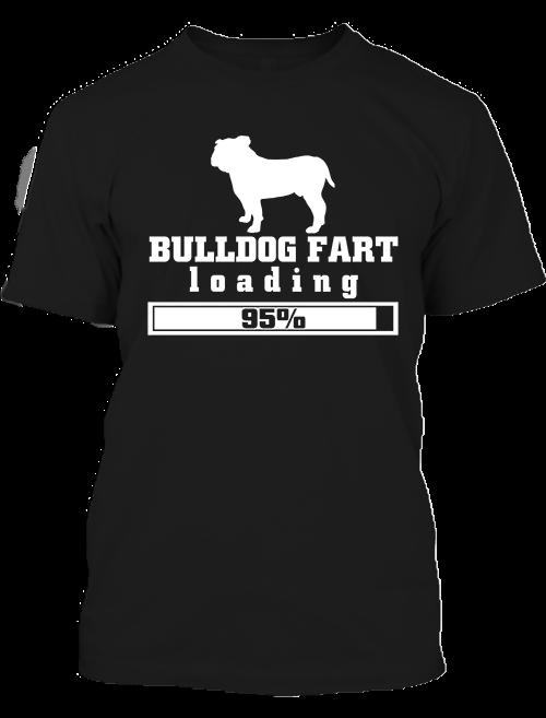 Férfi póló Bulldog fart fekete
