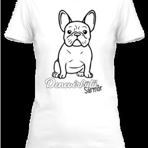 Denevérfülű sármőr francia bulldog- Női póló