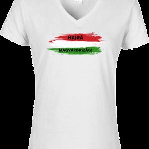 Hajrá Magyarország – Női V nyakú póló