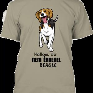 Hallom, de nem érdekel beagle – Férfi póló