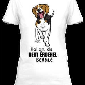 Hallom, de nem érdekel beagle – Női póló