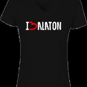 I love Balaton- Női V nyakú póló