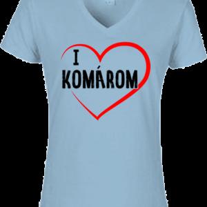 I love Komárom – Női V nyakú póló