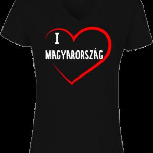 I love Magyarország  – Női V nyakú póló
