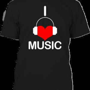 I love music zene – Férfi póló