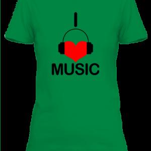 I love music zene – Női póló