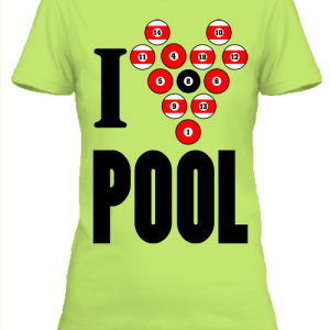 I love pool – Női póló