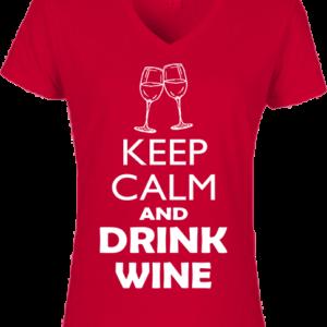 Keep calm bor – Női V nyakú póló