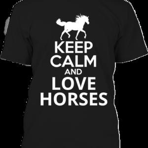 Keep calm and love horses lovas – Férfi póló