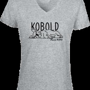 Kobold Francia Bulldog – Női V nyakú póló