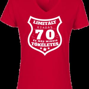 Limitált kiadás 70 – Női V nyakú póló