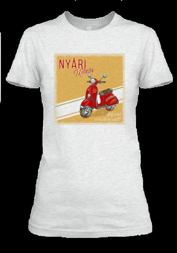 Motor 1 női póló hamuszürke