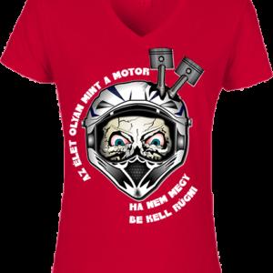 Motor 2 – Női V nyakú póló
