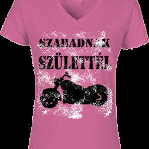 Motor 3 – Női V nyakú póló
