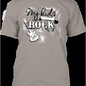 My kids rock zene – Férfi póló