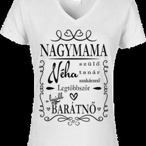 Nagymama 1 – Női V nyakú póló