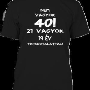 Születésnap 40 – Férfi póló