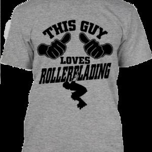 This guy loves rollerblading görkorcsolya – Férfi póló