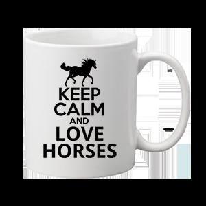 Keep calm and love horses lovas – bögre
