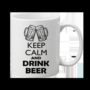 Keep calm beer sör – bögre