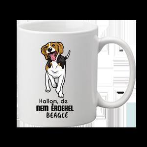 Hallom de nem érdekel beagle – bögre