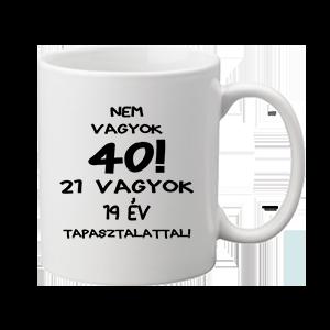 Születésnap 40 – bögre