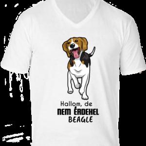 Hallom de nem érdekel beagle -Férfi V nyakú póló