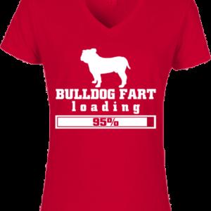 Bulldog fart- Női V nyakú póló