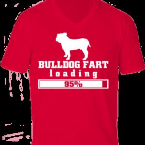 Bulldog fart -Férfi V nyakú póló
