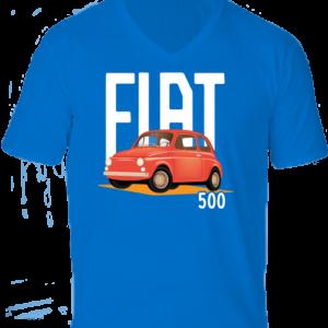 Fiat 500 -Férfi V nyakú póló