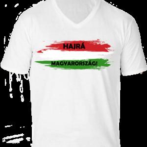 Hajrá Magyarország -Férfi V nyakú póló