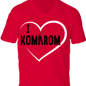 I love Komárom -Férfi V nyakú póló
