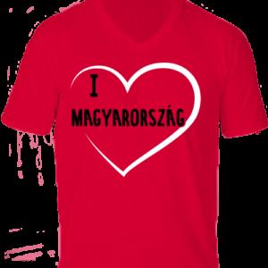 I love Magyarország -Férfi V nyakú póló
