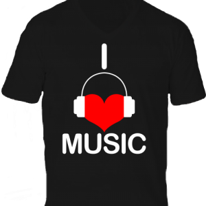 I love music -Férfi V nyakú póló