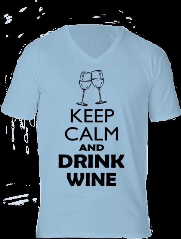 Póló Keep calm bor világoskék