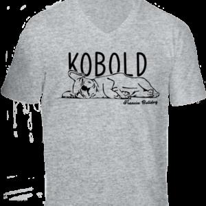 Kobold francia bulldog -Férfi V nyakú póló