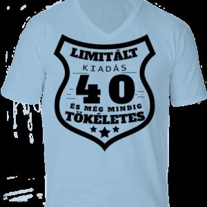 Limitált kiadás 40 -Férfi V nyakú póló