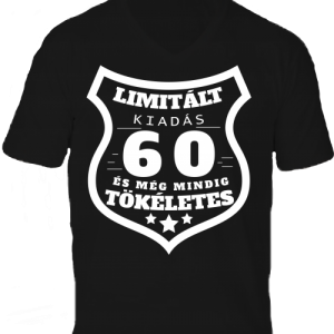 Limitált kiadás 60 -Férfi V nyakú póló