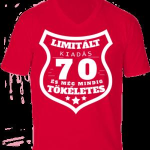 Limitált kiadás 70 -Férfi V nyakú póló