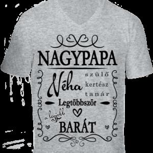 Nagypapa barát -Férfi V nyakú póló