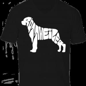 Rottweiler -Férfi V nyakú póló