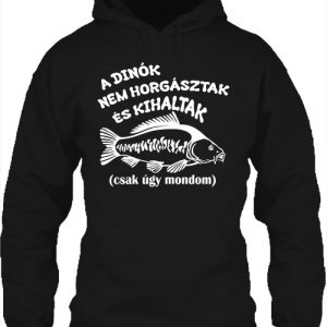 A dínók kihaltak horgászat – Unisex kapucnis pulóver
